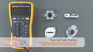 Learn how to test your thermal fuse for continuity using a multimeter.