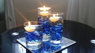 Beautiful Centrepiece Decoration  Using Floating Candles DIY Super Cheap