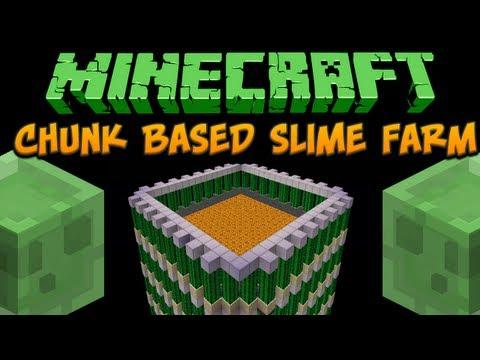 Minecraft Chunk Based Slime Farm Tutorial Minecraft Project