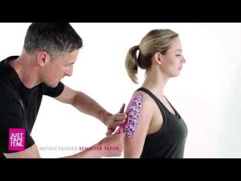 Schulter tapen Anleitung » Schritt für Schritt Kinesiologie Tape anlegen