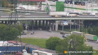 Авария около развязки на пересечении Дзержинского и Новорязанского шоссе, 01.06.2017