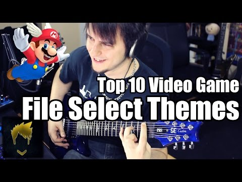 Top 10 Video Game File Select Themes - Guitar Medley (FamilyJules7x )