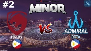 ДЕНДИ ЕЩЕ МОГЁТ?! | Tigers vs Admiral #2 (BO3) | StarLadder ImbaTV Dota 2 Minor