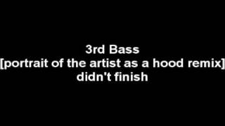 3rd Bass - Portrait of the artist as a hood (remix)
