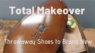 John Lobb Shoe Restoration   Total Transformation From Throwaway to Brand New