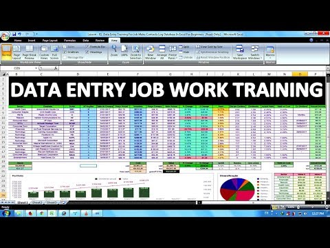 Data Entry & Office Work Training For Job In Excel In Hindi - YouTube