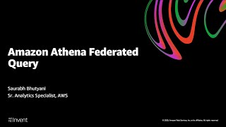 Analyze Results of Federated Query in Amazon Athena in Amazon QuickSight