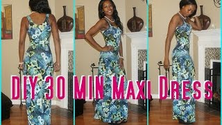 #4 DIY 30 Min Maxi Dress -Derris Diary| Sew Derri