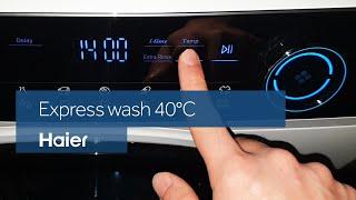 Haier I-Pro Series 7 washing machine - Express wash 40°C