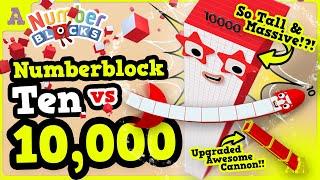 Numberblock 10,000 Massive & Tall vs Ten! Amazing & Craziest Episode Ever!