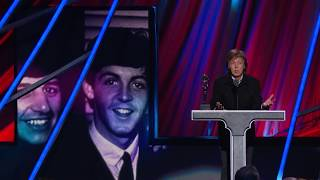 Paul McCartney Inducts Ringo Starr at the 2015 Rock & Roll Hall of Fame Induction Ceremony
