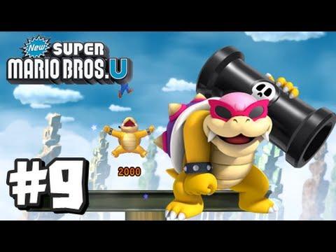 New Super Mario Bros U Walkthrough - Part 5 World 4 by