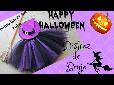 Como hacer disfraz Halloween de bruja para niña con un tutu sin coser / MISS MUNDO ROSA