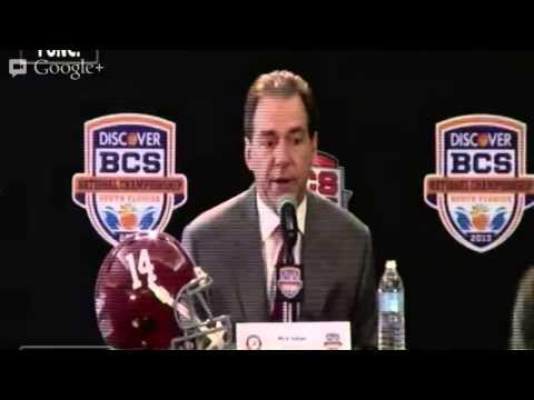 2013 Discover BCS National Championship Presser | Alabama HC Nick Saban