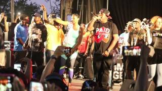 Lil Fame of M.O.P.  performing Ante Up at the Duck Down BBQ 2016