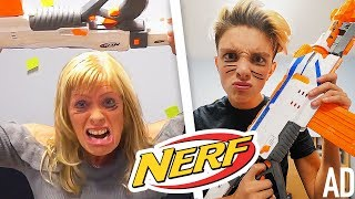CRAZY FAMILY NERF WAR!!!