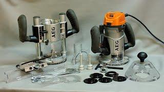 Двухбазный фрезер AEG MF 1400 KE. Подробный обзор и демонстрация в работе.