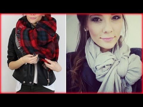 5 EINFACHE Arten einen Schal zu tragen/binden
