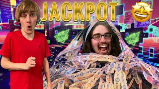 WINNING 30,000 TICKETS IN AN ARCADE!! (Almost IMPOSSIBLE)