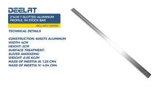 2*4cm T-Slotted Aluminum Profile, 1m Stock Bar - 1.28*4.84cm