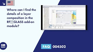 FAQ 004502 | Where can I find the details of a layer composition in the RF‑GLASS add-on module?