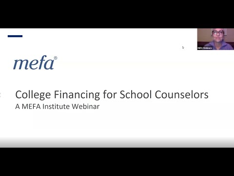 The MEFA Institute: College Financing for School Counselors