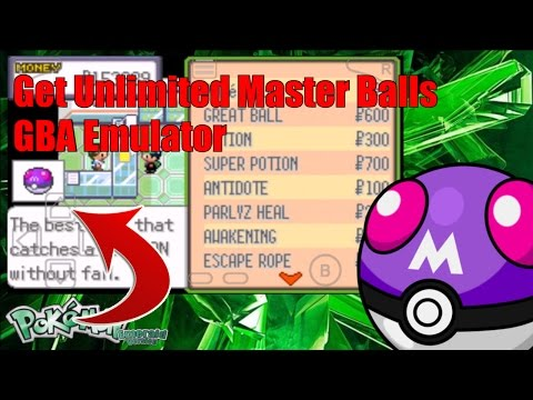 How To Get Unlimited Master Balls In Pokemon Emerald GBA Emulator Cheat Code