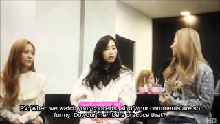 [ENG SUB] 150313 SNSD Taeyeon's Advice for Red Velvet