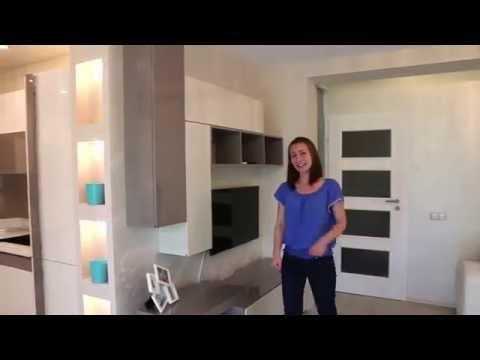 Zarra Design - Апартамент Лазурен бряг - кухня, трапезария, дневна, спалня, детска стая
