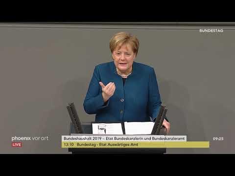 Генералдебатте им Бандестаг: Реде вон Ангела Mеркел ам 21.11.2018