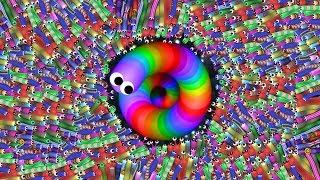 Slither.io 1 Troll Hacked Skin Snake vs. 987654321 Snakes Epic Slitherio Gameplay!