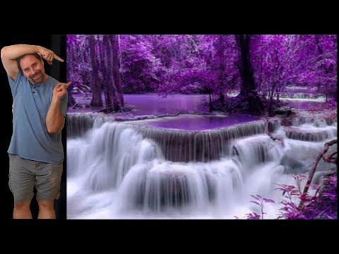 Diamond painting time-lapse Waterfall