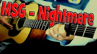 ♪♫ Michael Schenker  MSG   (Never Ending) Nightmare   Acoustic Guitar Cover By Ash Almond