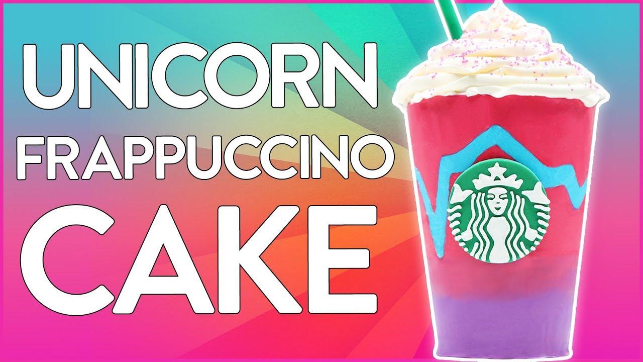 UNICORN FRAPPUCCINO CAKE ft LaurDIY - Starbucks - NERDY NUMMIES thumbnail