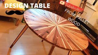 Pallet Wood Design Table