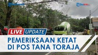 Kendaraan Masuk Tana Toraja Disemprot Disinfektan Otomatis di Pos PPKM, Petugas Periksa Pengendara