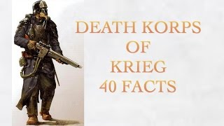 40 Facts and Lore about the Death Korps of Krieg Warhammer 40k