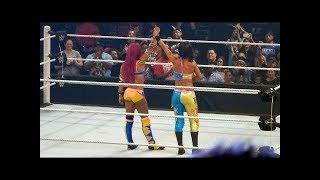 Sasha Banks and Bayley vs Charlotte and Dana Brooke - Battleground Live FanCam 7/24/16 HD