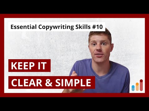 , title : 'Write in a Clear and Simple Way [Essential Copywriting Skills for Beginners & Pros]