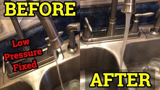 How to fix a sink with low water pressure  (kitchen or bathroom Faucet) Hot and Cold