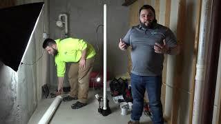 Radon Mitigation System Installation
