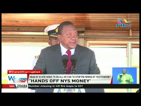 President Kenyatta warns NYS officials against theft of service's resources