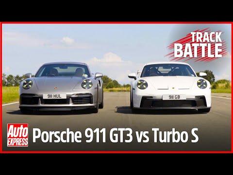 Porsche 911 GT3 vs 911 Turbo S track battle: Steve Sutcliffe on the limit   Auto Express