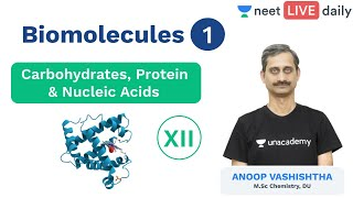 Biomolecules - Lecture 1 | Class 12 | Unacademy NEET | NEET Chemistry | LIVE Daily | Anoop Sir