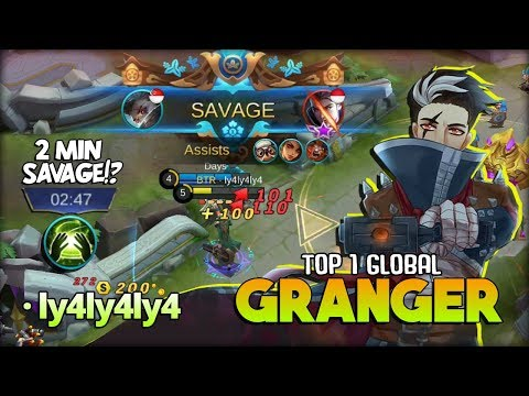 2 Minutes SAVAGE?! Granger Totally Deadly Marksman! · ly4ly4ly4 Top 1 Global Granger ~ MLBB