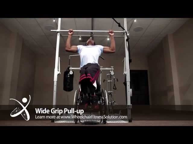 Wheelchair Fitness Solution | Exercise: Wide Grip Pull up (3 of 40)
