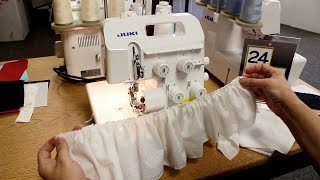 How to Gather on a Serger using the Juki MO-654DE