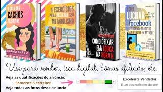 Eu vou criar seu E-book: Conteúdo + Formatação + Capas 3D
