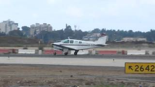 preview picture of video 'Beechcraft A36 4x-dzd taking off at Bengurion aiport-Israel'