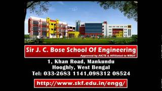 preview picture of video 'Sir J. C. Bose School of Engineering: One of the Best Engineering Colleges near Kolkata'